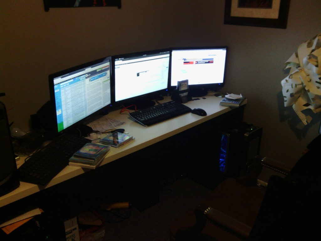 Three Monitors, One Card, 18 Megapixels