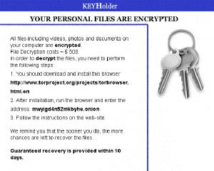 Keyholder Ransom Note