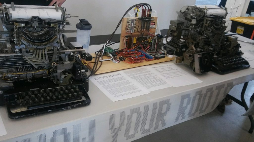 Another view of the teletype display, this time before I removed the signs