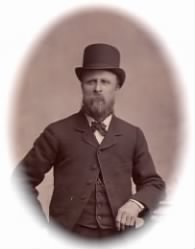 """There is absolutely nothing in popular culture having to do with the name """"Aveson"""", so this is the most Christmasey Aveson-related picture I could find-- Robert Aveson sporting a tophat"""